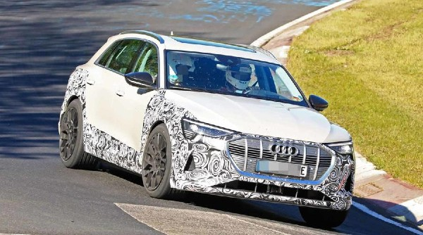 2020 Audi E-Tron S Spied At The Nürburgring