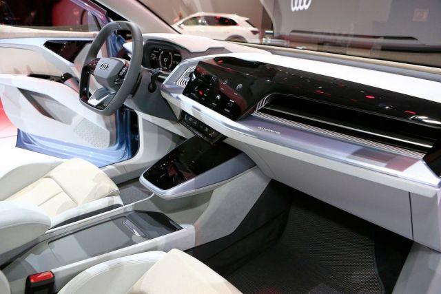 2021 Audi Q4 e-Tron cabin