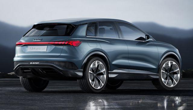 2021 Audi Q4 e-Tron side