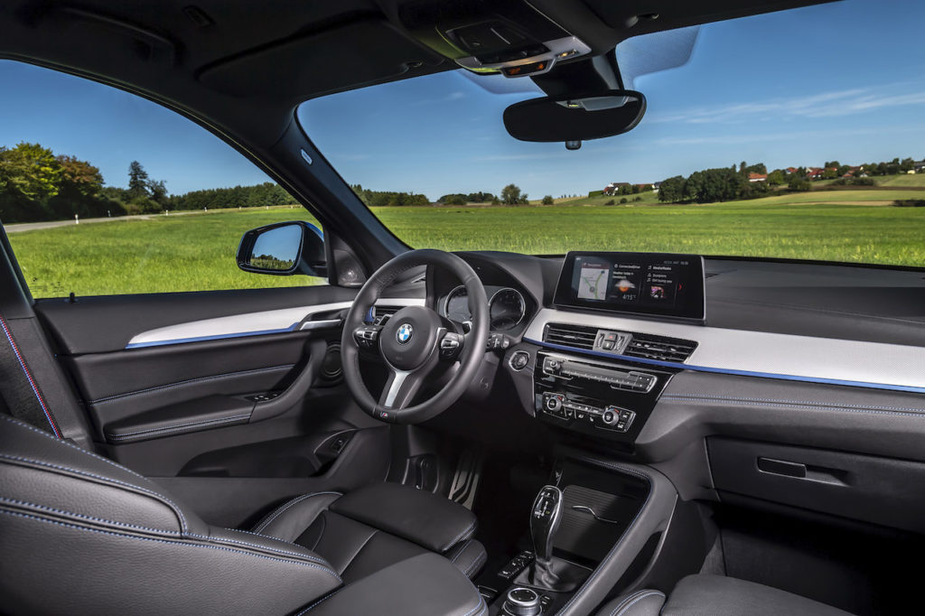2021 BMW X1 PHEV cabin