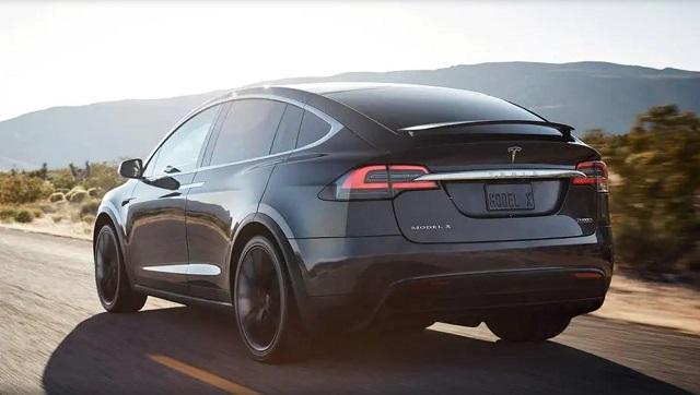 2021 Tesla Model X rear