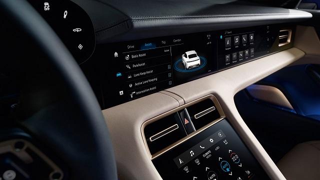 2021 Porsche Taycan cabin