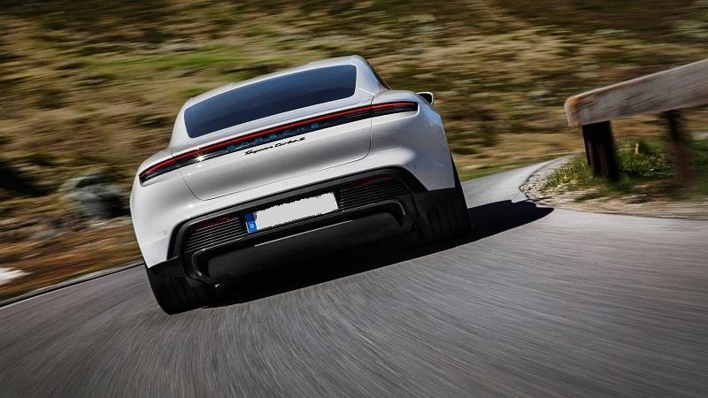 2021 Porsche Taycan rear