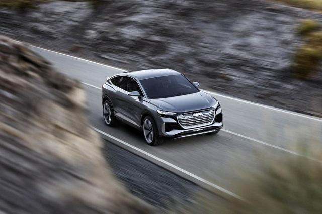 2021 Audi Q4 Sportback E-tron front