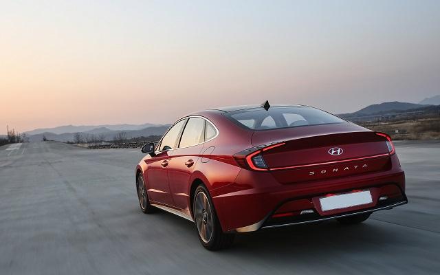 2021 Hyundai Sonata Hybrid rear