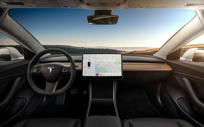 2021 Tesla Model 3 cabin