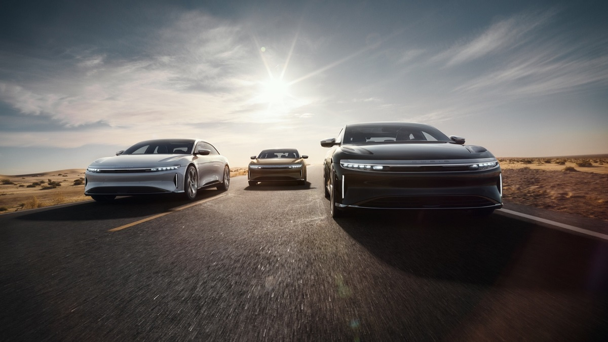 2021 Lucid Air front