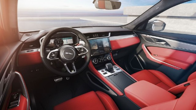 2022 Jaguar F-Pace interior