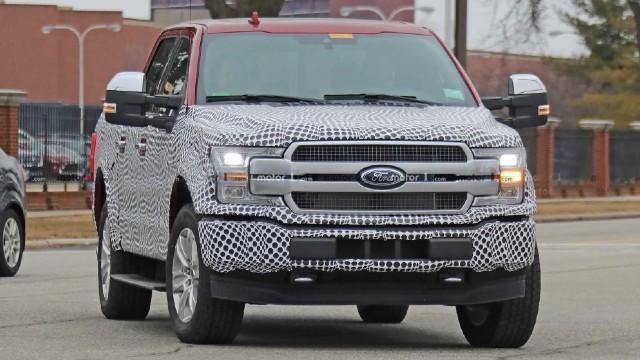 2022 Ford-F-150 Lightning spied
